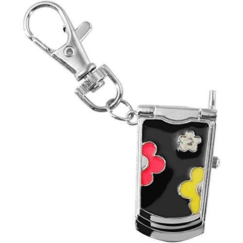 alain-miller-schlusselanhanger-mit-uhr-handy-design-schwarz-taschenanhanger