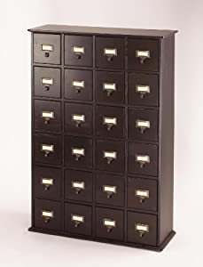 Library Card File Multimedia Cabinet Espresso