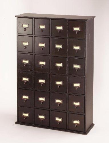 Leslie Dame CD-456ES Solid Oak Library File Media Cabinet, E