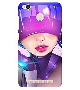Chiraiyaa Designer Printed Premium Back Cover Case for Xiaomi Redmi 3S Prime (girl robot vibrant) (Multicolor)