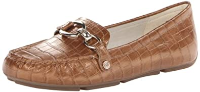 AK Anne Klein Women's Myles Leather Slip-On Loafer,Light Bronze Leather,6 M US
