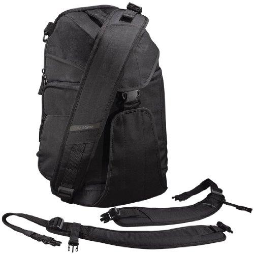 Flashstar Sac bandoulière 2en1 pour appareil photo + bretelle pour installation en sac à dos
