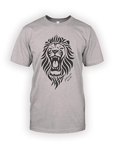 Admonish Clothing Company Men'S Bold As A Lion T-Shirt Xx-Large Heather Gray front-761156
