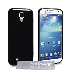 Yousave Accessories Coque en silicone gel pour Samsung Galaxy S4 Noir