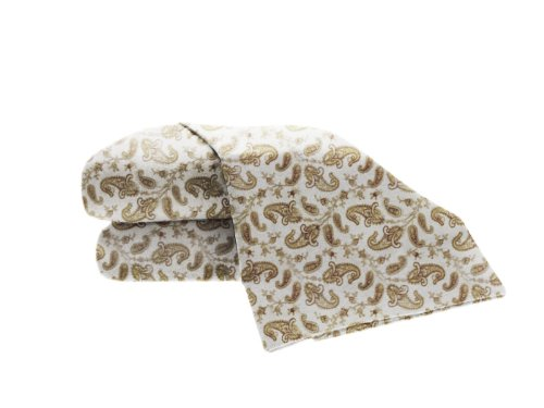 La Rochelle Printed Heathered Flannel Paisley Sheet Set, King, Grey front-176432