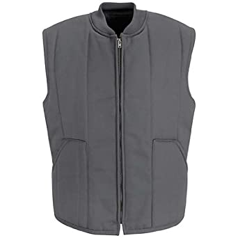 Red Kap Men's Quilted Vest, Charcoal, Small