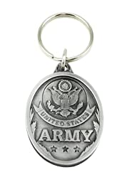 US Army Pewter Key Ring