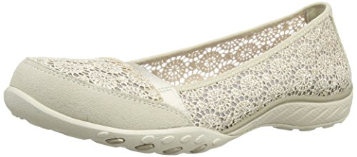 Skechers Breath Easy Pretty Face, Scarpe donna Beige (Natural) 38