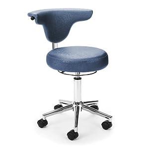 Armless Doctor's Chair Carob Vinyl/Chrome Base