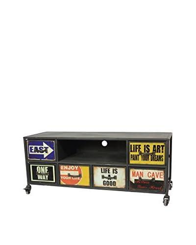Home Ideas Mesa Para Televisor Industrial Tags Negro/Multicolor