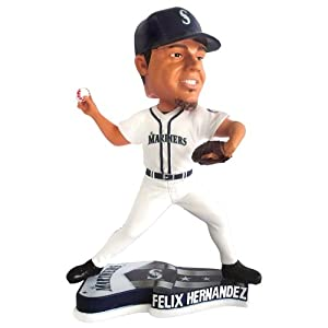Seattle Mariners Felix Hernandez 2013 Pennant Base Bobblehead Figurine by Forever Collectibles