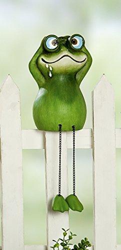 Witzige Figur Serie Zaun-Voyeure Kantensitzer Frosch mit Fernglas