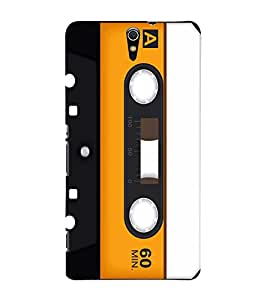 Vintage Yellow Cassette 3D Hard Polycarbonate Designer Back Case Cover for Sony Xperia C5 Ultra Dual :: Sony Xperia C5 E5553 E5506 :: Sony Xperia C5 Ultra