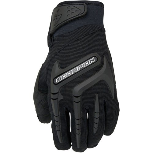 Scorpion Skrub Youth Boys Textile On-Road Racing Motorcycle Gloves - Black / Small