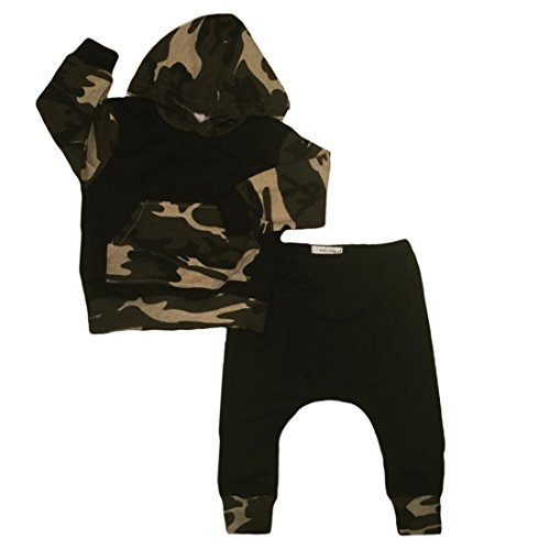 Infant Baby Boys Camouflage Hoodie Tops +Long Pants Outfits Set Clothes 0-3Y (2-3 Years, Camouflage)