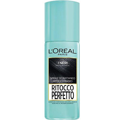 L'Oréal Paris Ritocco Perfetto Spray Istantaneo Ritocco Radici, 1 Nero