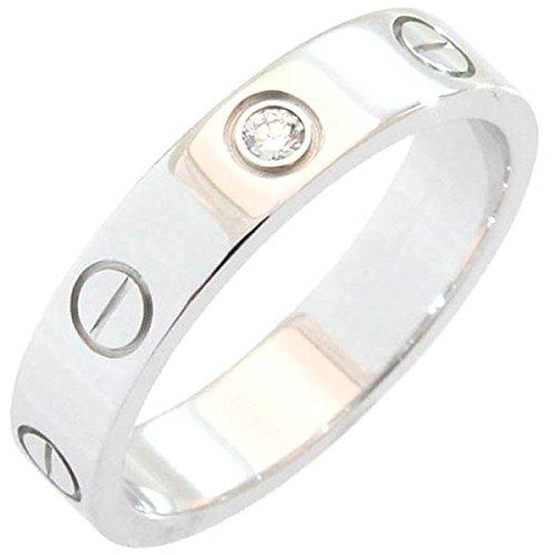 (カルティエ)Cartier リング ラブ ウェディングリング B4050549 750 WG 1Pダイヤモンド 49号 中古 指輪 ミニラブリング Cartier [並行輸入品]