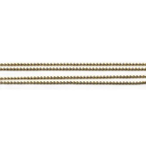 プリティーネイル ブリオンチェーン0.8mm ゴールド CHーBC0.8 1m 1個