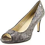 Calvin Klein Kady Lux Womens Open Toe Animal Print Leather Pumps Heels Shoes