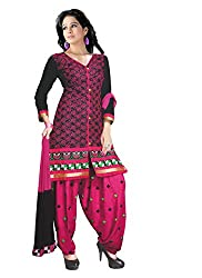 Justkartit Women's Multi Color Cotton Patiala Style Casual wear / Office wear / Daily Wear Unstitched Salwar Kameez