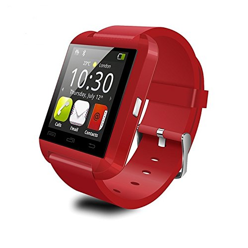 Merchant eShop U8 Red color Bluetooth Smartwatch for iPhone,Android, BLackberry & Windows Phone