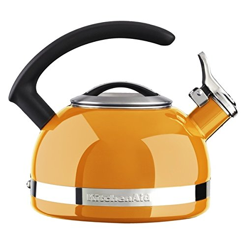 KitchenAid 2-quart Orange Porcelain Enamel Kettle (Ellipse Tea Kettle compare prices)