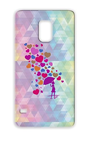 Hearts Valentines Day Love Silhouette Love Romance Colorfulness Heart Pop Girl Purple Protective Case For Sumsang Galaxy S5 Falling In