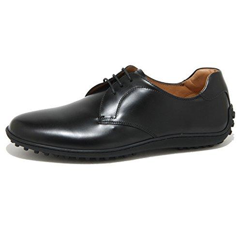 0927O scarpa allacciata CAR SHOE nero scarpe uomo shoes men [7.5]