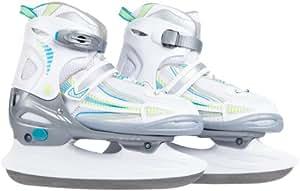 Ultrasport Patins à glace adjustable mixte enfant Blanc/Turquoise/Vert 28-31 cm