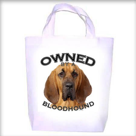 Bloodhound Owned Shopping - Dog Toy - Tote Bag