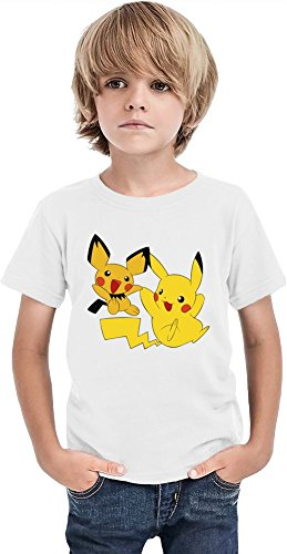 Pichu-Pikachu-Joy-Time-Camiseta-de-los-muchachos