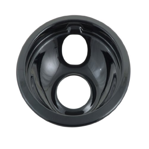 Whirlpool W10290350Rw Universal Drip Bowl And Ring, Black, 8-Inch