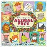 Eeboo, Animal face, memory game, juego de las parejas