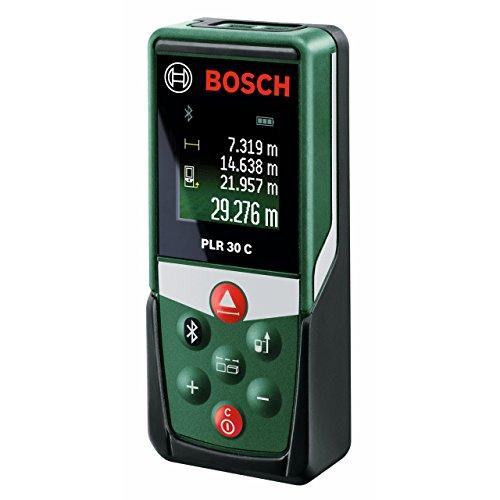 Bosch-DIY-Digitaler-Laser-Entfernungsmesser-PLR-30-C-Connectivity-Funktion-3-x-AAA-Batterien-Schutztasche-Karton-30-Meter-Messweite