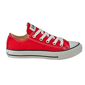 Converse - Youth Chuck Taylor Allstar Ox Shoes (Red, 13 D)