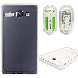 DMG LED Flashing Call Notification TPU Back Cover Case for Samsung Galaxy A5 (White) + 2600 mAh Power Bank
