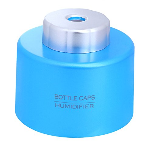 econoLED New Portable USB Mini Water Bottle Caps Humidifier Air Diffuser Aroma Mist Maker Blue (Mini Water Machine compare prices)