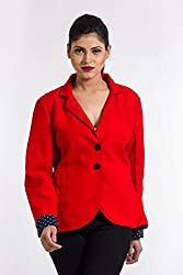 Fbbic Women's Coat (15007_Large_Red)