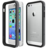 Tech Armor EdgeProtect Grip Scratch-Resistant Bumper Case for iPhone 5S / 5 (Black/Slate) Lifetime Warranty
