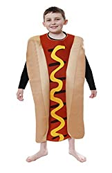 Lollipop Clothing Childrens Hot Dog in Bun Costume One Suit Play Fancy Dress Novelty Kids Boys Fast Food
