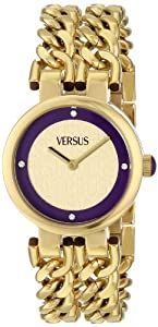 Versus by Versace Women's SGR050013 Berlin Analog Display Japanese Quartz Gold Watch