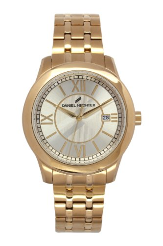 Daniel Hechter - 004/DHH 1EM Men's Watch Analogue Quartz Golden Dial Gold Plated Steel Bracelet