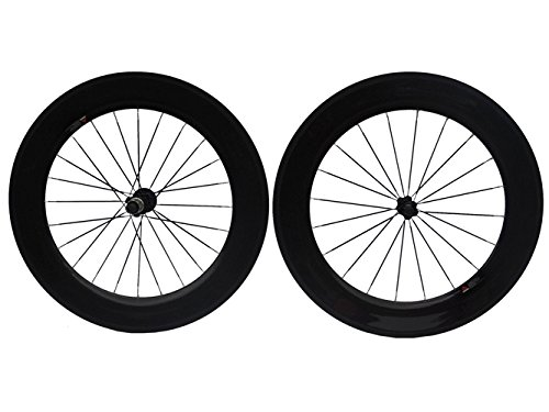 Фото Full Carbon Glossy Road Bike Bicycle Tubular Wheelsets 88mm Spoke HUB For Shimano 8/9/10/11S