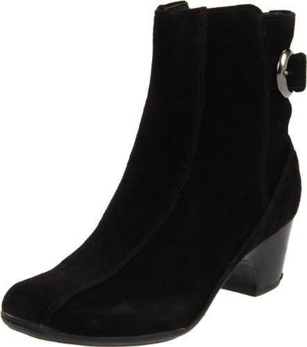 Clarks Women's Dara 3 Boot,Black Suede,7.5 M US