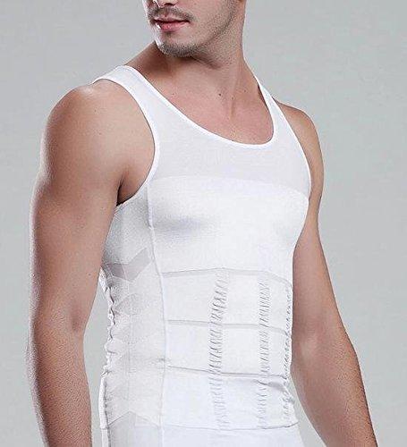 ネクシード(nexeed) 着るだけ シェイプアップ! お腹引き締め メンズ 補正Tシャツ タンクトップ ガードル (Mサイズ, ホワイト) nexeed