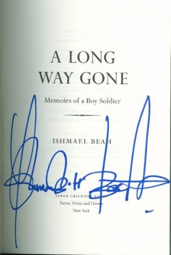 a review of a long way gone a book by ishmael beah A long way gone : memoirs of a boy soldier [ishmael beah] -- this is how wars  are fought now: by children, hopped-up on  based on 7 rating(s) 2 with reviews.