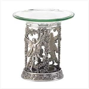 fairy oil warmer burner diffuser pewter. Black Bedroom Furniture Sets. Home Design Ideas