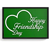 PosterGuy Framed Posters (12X18 Inch) - Lovely Friendship Day With Green Background | Designed By: Codeburnerz...