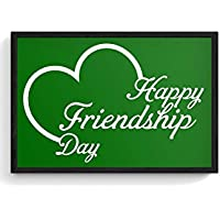 PosterGuy Framed Posters (8X12 Inch) - Lovely Friendship Day With Green Background | Designed By: Codeburnerz...