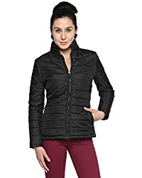 Campus Sutra Cotton Silk Women's Bomber Jackets (AW15_JK_W_P3_BL_L_Black_Large)